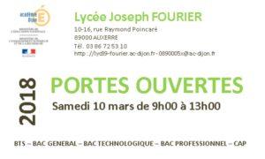 Organisation Scolaire 2017 2018 Lycee Joseph Fourier